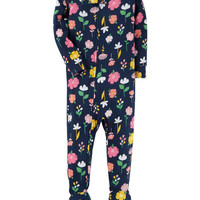 1-Piece Flower Snug Fit Cotton PJs