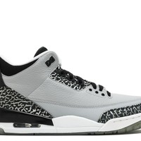 air jordan 3 retro wolf grey basketball sneaker