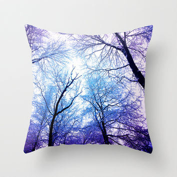 Snow Angel's View - Nature's Painting Throw Pillow by soaring anchor designs ⚓