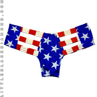 American Flag Cutout Bottoms