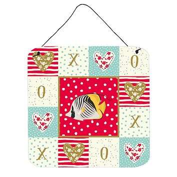 Butterfly Fish Love Wall or Door Hanging Prints CK5466DS66