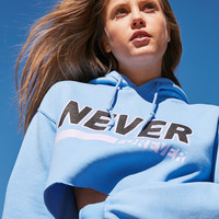 BDG Never Forever Cropped Hoodie Sweatshirt | Urban Outfitters