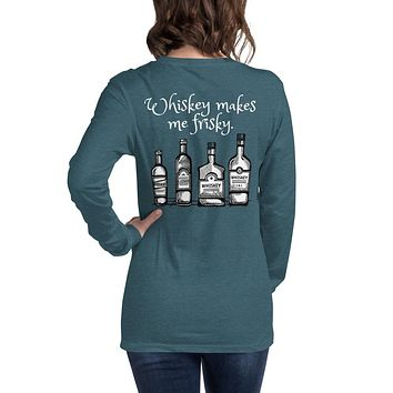 Whiskey Makes Me Frisky Long Sleeve Tee by Country Club Prep