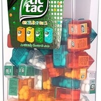 TIC TAC Spender Box with 60 Mini Boxes (Each 3.9 Grams) Liliput, Flavours : Orange, Mint, Peach, Peppermint.