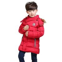 2016 new baby boy coat jacket children hooded jacket baby winter warm clothes fashion coat long Children fashion coat Kids coat