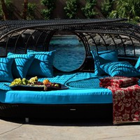 Handcrafted Outdoor Wicker Daybed