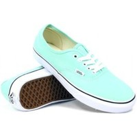 Vans Women's Authentic (Beach Glass/True White) Women's Shoes