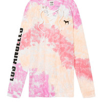 Long Sleeve Lace-Up Campus Tee - PINK - Victoria's Secret