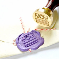 Polaroid Camera Gold Plated Wax Seal Stamp x 1