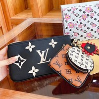 Louis Vuitton LV New Mahjong Coin Purse Fashion Clutch Coin Purse Three-piece Set