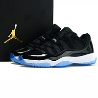 Inseva Air Jordan 11 Hot Sale Men Casual Sport Running Basketball Shoes Sneakers Black&Blue