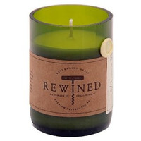"""REWINED """"CHAMPAGNE"""" RECYCLED WINE BOTTLE CANDLE"""
