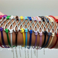 Silver Infinity Wish  Bracelet  wax cord by Infinitywishes on Etsy