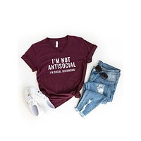 Not Anti-Social, Social Distancing T-Shirt