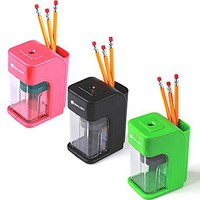 Avalon Electronic Pencil Sharpener With Built In Safety Feature, Assorted Colors | Staples®