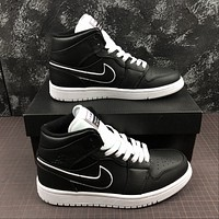 Morechoice Tuhr Nike Air Jordan 1 Mid Maybe I Destroyed The Game Basketball Shoes Aj1 Casual Skate Shoes 852542-016