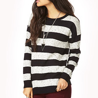Off-Day Heathered Stripe Sweater   FOREVER 21 - 2000128600