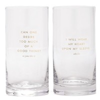 kate spade new york 'too much of a good thing' highball glasses - White (set of 2)