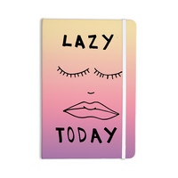 """Vasare Nar """"Lazy Today Tropical"""" Yellow Pink Everything Notebook"""