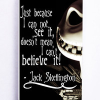 The Nightmare Before Christmas Quotes Jack Skellington for Iphone 5 / 5s Hard Cover Plastic