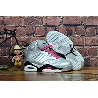Air Jordan Retro 6 GS Valentines Day Kid Basketball Shoes