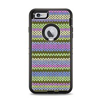 The Colorful Knit Pattern Apple iPhone 6 Plus Otterbox Defender Case Skin Set