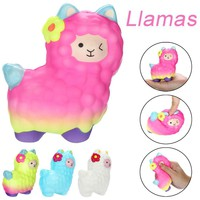 Squishies Adorable Llamas Slow Rising Fruits Scented Squeeze Stress Relief Toys