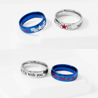 STUCKY Ring Winter Soldier Captain America Stainless Steel, Stucky Ring, Geek Engagement Ring, Couple Ring, Geekery Jewelry, Geek Ring