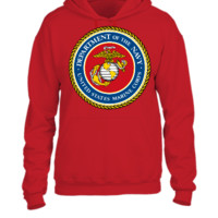 UNITED STATES MARINE CORP DEPARTMENT OF THE NAVY - UNISEX HOODIE