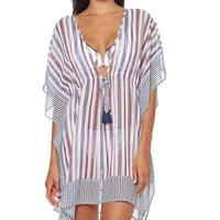 Jessica Simpson Line It Up Chiffon Caftan Cover Up | Dillard's