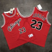 Chicago Bulls 23 Jordan Red Champion Basketball Jersey