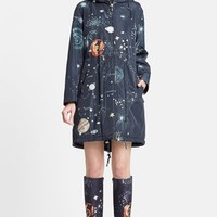 Women's Valentino Cosmos Print Hooded Coat