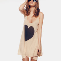 BIG HEART - SLIP DRESS at Wildfox Couture in  BRBLA, NBCH