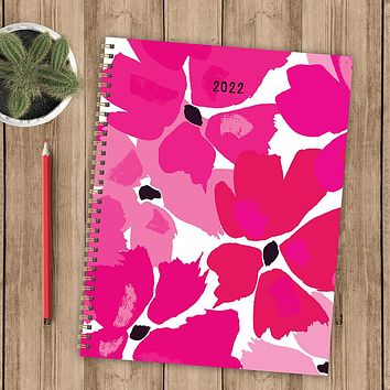 Prettiest Flowers Large Weekly Monthly Planner + Coordinating Planning Stickers