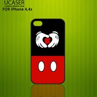 Mickey Mouse Inspired - Photo On Hard Cover Case For iPhone 4,4S