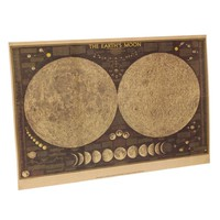 Lunar Moon Map poster LIMITED