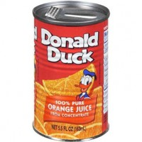 Donald Duck Orange Juice, 5.5-Ounce Cans (Pack of 24)
