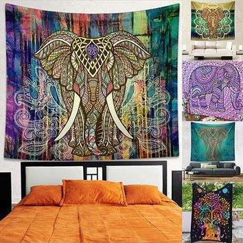 Indian Mandala Tapestry Hippie Wall Hanging Bohemian Bedspread Throw Dorm Decor Store 48