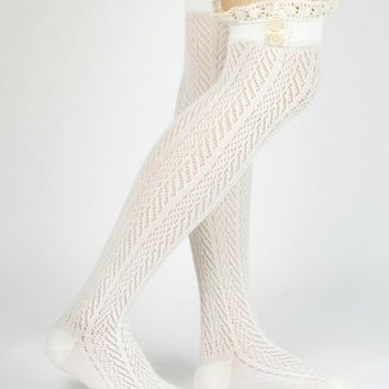 Crochet Over the Knee Bootsock - Multiple Color Options