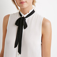 Longline Self-Tie Neck Top