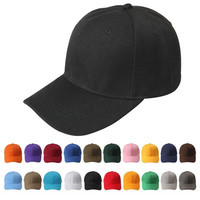 New Plain Fitted Curved Visor Baseball Cap Hat Solid Blank Color Caps Hats = 6014640967