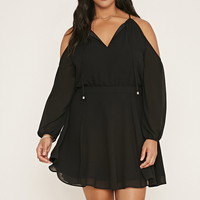 Plus Size Self-Tie Dress | Forever 21 PLUS - 2000168625