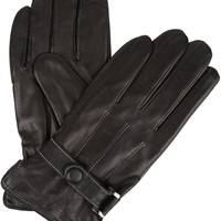 Sakkas Markel Faux Fur Insulated Touch Screen Fingers Real Leather Gloves