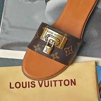 LV 2020 new lock female classic classic leisure slippers shoes