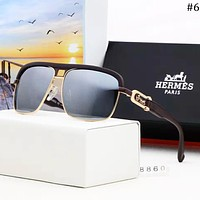 Hermes 2018 new trend outdoor wild men's color film polarized sunglasses #6