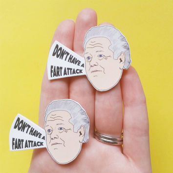 Parks and Recreation brooch - statement jewelry - shrink plastic brooch - shrink plastic jewelry