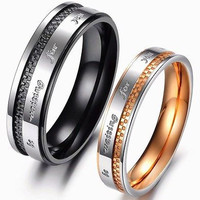 SHINING HIS AND HER LOVE 925 STERLING SILVER FOR ENAGAGMENT AND WEDDING RING SET
