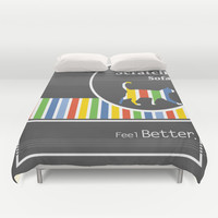 Scratch Sofa Feel Better Duvet Cover by Bad English Cat