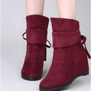 New style ankle boots with flat wedge heels shoes