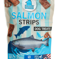 Plato Pet All-Natual Real Salmon Strips Dog Treats 6 oz